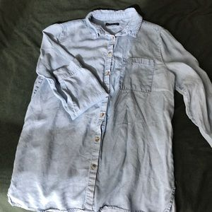 Chambray long line button up